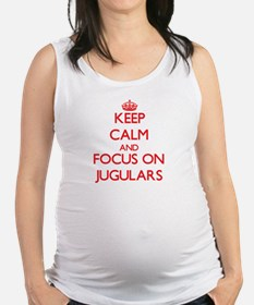 Funny Keep calm and carry on gun Maternity Tank Top