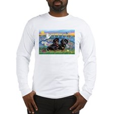 Sunrise Lilies / Doxie's Rule Long Sleeve T-Shirt