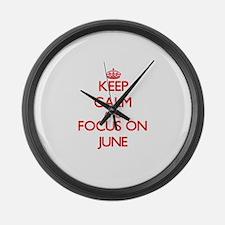 Keep calm carry parody Large Wall Clock