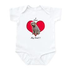 Golden Doodle Love Dad Infant Bodysuit