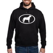 Irish Wolfhound Oval Hoodie