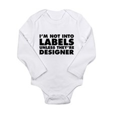 Not Into Labels Unless Long Sleeve Infant Bodysuit