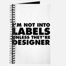Not Into Labels Unless Designer Journal