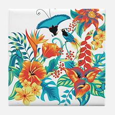 Tropical Flowers Tile Coaster