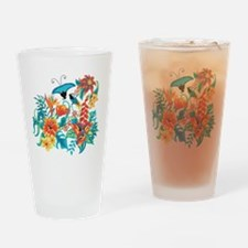 Tropical Flowers Drinking Glass