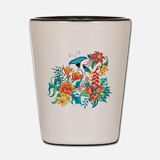 Tropical Flowers Shot Glass