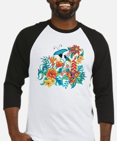 Tropical Flowers Baseball Jersey