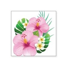 Dual Pink Hibiscus Sticker