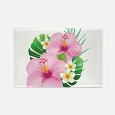 Dual Pink Hibiscus Magnets