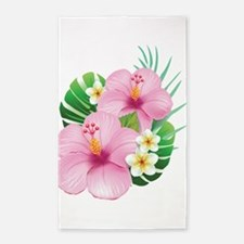 Dual Pink Hibiscus 3'x5' Area Rug