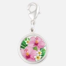 Dual Pink Hibiscus Charms