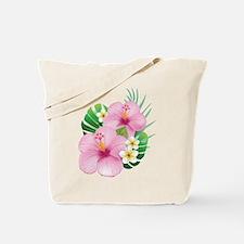 Dual Pink Hibiscus Tote Bag