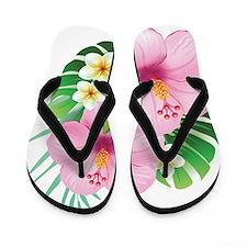 Dual Pink Hibiscus Flip Flops
