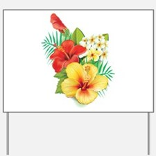 Tropical Hibiscus Yard Sign