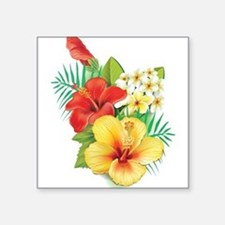 Tropical Hibiscus Sticker