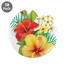 """Tropical Hibiscus 3.5"""" Button (10 pack)"""