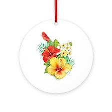 Tropical Hibiscus Ornament (Round)