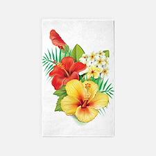 Tropical Hibiscus 3'x5' Area Rug