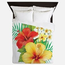 Tropical Hibiscus Queen Duvet