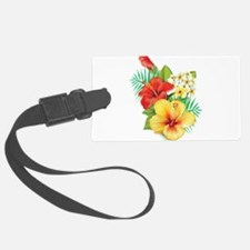 Tropical Hibiscus Luggage Tag