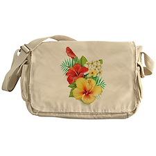 Tropical Hibiscus Messenger Bag