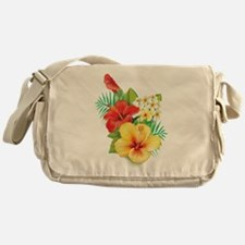 Tropical Hibiscus Messenger Bag