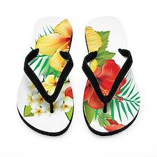 Tropical Hibiscus Flip Flops