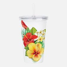 Tropical Hibiscus Acrylic Double-wall Tumbler