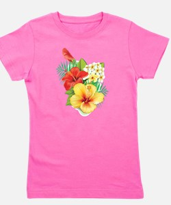 Tropical Hibiscus Girl's Tee