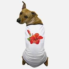 Red Hibiscus Dog T-Shirt