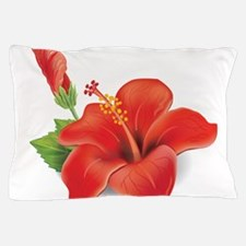 Red Hibiscus Pillow Case