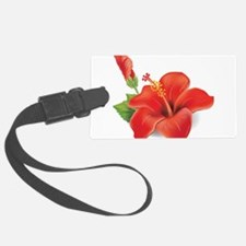 Red Hibiscus Luggage Tag