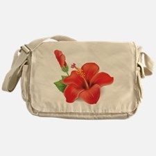 Red Hibiscus Messenger Bag