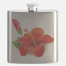 Red Hibiscus Flask
