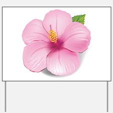 Pink Hibiscus Yard Sign