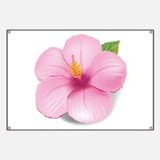 Pink Hibiscus Banner