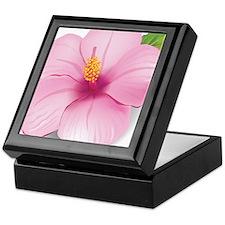 Pink Hibiscus Keepsake Box