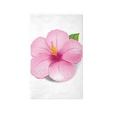 Pink Hibiscus 3'x5' Area Rug