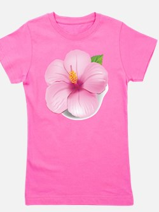 Pink Hibiscus Girl's Tee