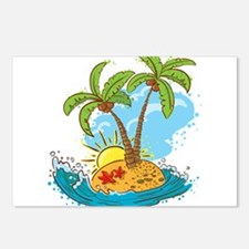 Palm Tree Island Postcards (Package of 8)