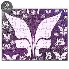 Purple Floral Butterflies Puzzle