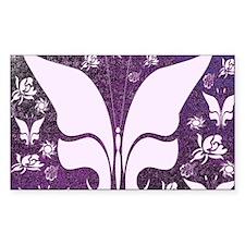 Purple Floral Butterflies Decal