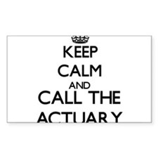 Keep calm and call the Actuary Decal