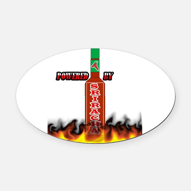 Cute Sriracha Oval Car Magnet