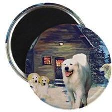 Great Pyrenees Cottage Magnet