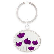 Purple Tulips Keychains