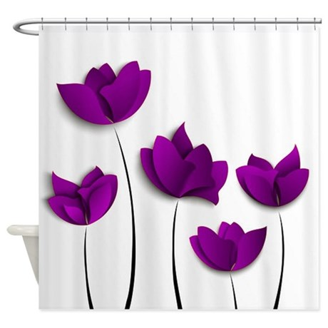 Purple Tulips Shower Curtain By Flowersforyou1