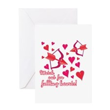 Watch Out For Falling Hearts! Greeting Cards