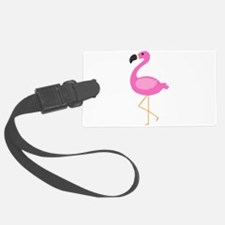 Bubblegum Pink Flamingo Luggage Tag