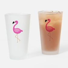 Bubblegum Pink Flamingo Drinking Glass